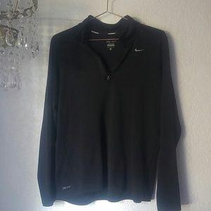 Nike Dri-Fit Running Jacket Black Zip Front SZ M
